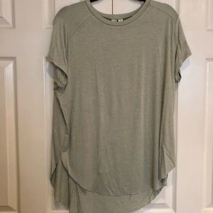 Melrose and Market high low pin striped tee